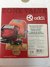 """Orkli Dreiwege Zonenventil Solar AG 1""""  kompl. mit Motor 230V mit Endschalter"""