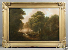 19th C. Oil Painting Landscape Man and Horses, signed George Morland (BRITISH)