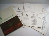 Battlezone Arcade Manual Original Atari 1980 Video Game Service + Schematics