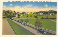 Mars Hill College From Across Athletic Fields, North Carolina ca 1940s Postcard