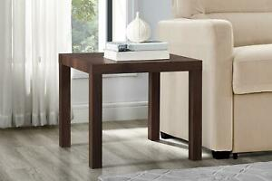 Mainstays Parsons Square End Table, Canyon Walnut