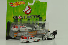 Hot Wheels Ghostbusters 1 64 Diecast Ecto-1 & Ecto-2 Vehicles Mattel Drw73