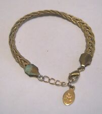 Great gold tone metal plaited style bracelet by Accessorize approx 6 ins long