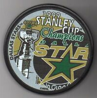 Dallas Stars 1999 NHL Stanley Cup Champions Hockey Puck + FREE Cube