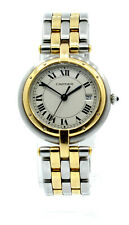 Ladies CARTIER PANTHER Panthere 18K Gold Stainless Steel Roman Round Watch