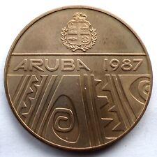 ARUBA 1987 ROYAL VISIT AT FEBRUARY 14-20 Medal 38mm 22g C44