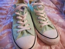 Converse All Star Chuck Taylors Mens 7 Womens 9 GREAT Condition!  Mint Green