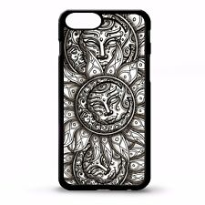 Sun tattoo pattern moon print aztec sun tribal face graphic phone case cover