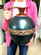 More details for magnificent signed 'mejias polonio' spanish pottery urn.