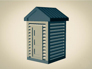 """The Outdoor Series"" OUTHOUSE  Camping  Modeled in Color 1G Scale 1:32 3D PRINT"