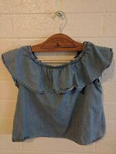 Zara Girls Collection denim strapless top size 13/14 cm164