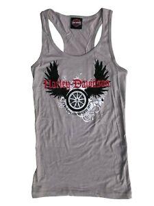 Ladies Harley Davidson New 100% Cotton Blonde vest Summer Tank Top 69