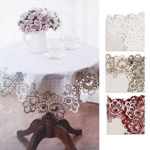 Tablecloth Table Covers Rim Macrame Rectangular Polka Dot Beige Grey Bordeaux