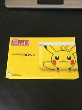 Pikachu Edition 3DS XL - BOX ONLY