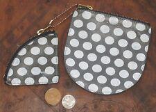 Baggu Polka Dot Leather Coin Purse Set