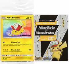 "Ash's Pikachu ""I Choose You"" Pokémon Trading Card English Promo 108 w/code"