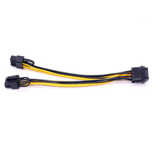 PCI-E 8-pin to 2x 6+2-pin Power Splitter Cable PCIE PCI Express