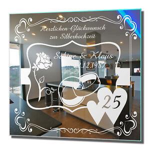 Motivspiegel Silberhochzeit 3 Geschenk zur silbernen Hochzeit Wedding 25 Years