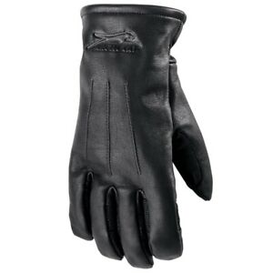 Arctic Cat Adult Soft Goatskin Leather Cat Insulated Gloves - Black - 5262-21_