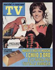 SORRISI 45/1970 BERTI RISCHIATUTTO ROLFI FERRER OCCHIENA MORANDI LUSINI VOCI BLU