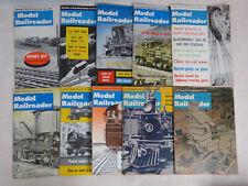 Model Railroader Magazine 10 Issues 1960's Vintage Train RR 1961- 1966 '62 '63