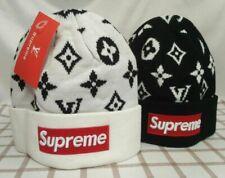 NWT Supreme Winter Beanie Black White Unisex