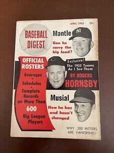 April 1953 Baseball Digest