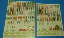 CLEAR WATERSLIDE DECALS 1/24 1/32 NASCAR SPONSER DECALS JEGS GOODYEAR HOLLEY