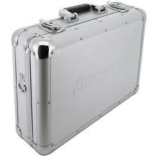Aluminium- Koffer silber leer Raster- Schaum- Stoff Werkzeug Transportkoffer Alu