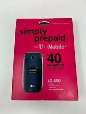 LG 450 - Blue/Black (T-Mobile) Cellular Phone