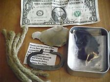 Basic Primitive Fire starting kit flint and home forged steel striker survival