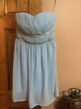 light Blue/silver short party dress strapless size L