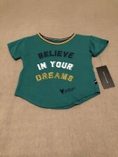 Tommy Hilfiger Crew Neck Short Sleeve T Shirt Green Girls Size 2t New With Tags