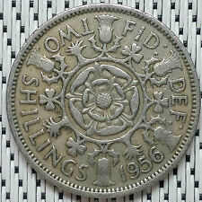GREAT BRITAIN - 1956 - 2 Shillings Elizabeth II #CAMD