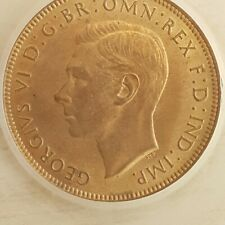 More details for slabbed george vi halfpenny 1942 cgs unc 80 (ref #16)