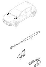 GENUINE Vauxhall ASTRA - H  Bonnet Hinge Left Hand 13195720