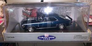 Classic Metal Works CAMARO SS396 1969 Dusk Blue Metallic 1:24 Limited edition