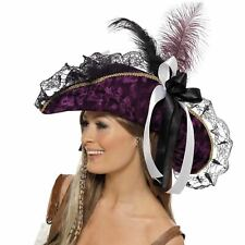 Women's Pirate Captain Hat Victorian Fancy Dress Steampunk Accessory Adults