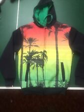 Exist Sublimation Island Palm Tree Zipped Hoodie - Men's Small