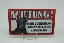 DOBERMANN - Tierwarnschild - VORSICHT Warnschild 20x12 cm Schild 21