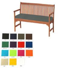 Grey Outdoor Waterproof Fabric 2 Seater Bench Pad Garden Furniture Seat Cushion