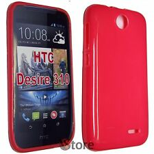Cover Custodia Per HTC Desire 310 FUCSIA GEL TPU