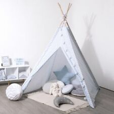 Tipi Déco Enfant 160cm Bleu Atmosphera for kids 127176B