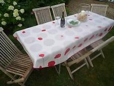 Tischdecke Provence 150x240 cm oval creme aus Frankreich, pflegeleicht bügelfrei