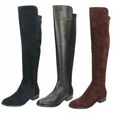 Clarks Block Heel Knee High Boots for Women