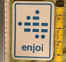 Vintage Skateboarding Sticker - Enjoi Skateboards - Braille