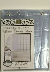 Super Deluxe Heavy Duty  Vinyl Shower Curtain Liner