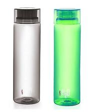 Cello H2O 1 Litre Water Bottle (Pack of 2) (Black and Green)