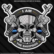 Thin blue line hard hat sticker police blue lives officer America vinyl sheepdog