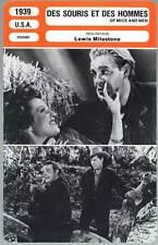 DES SOURIS ET DES HOMMES - Chaney Jr,Meredith(Fiche Cinéma)1939  Of Mice And Men